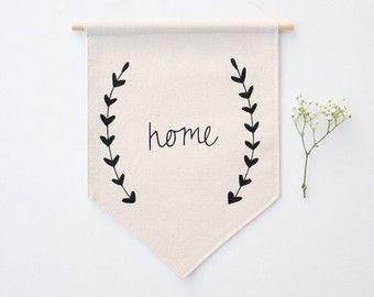 Pequeña lona Banner - Home - bandera - Banner de tela - de la pared pared…