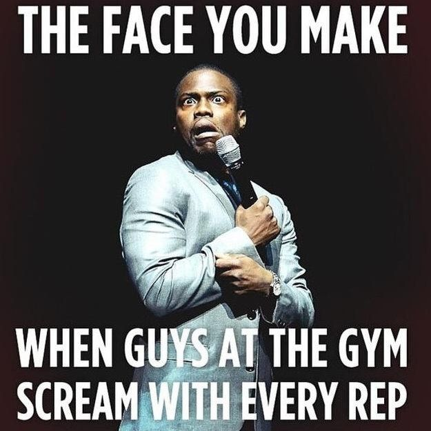 Not to mention the screamers: | 26 Pictures People Who Don't Work Out Will Never Understand  STFU