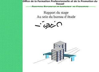 Exemple de rapport de stage au bureau d'étude