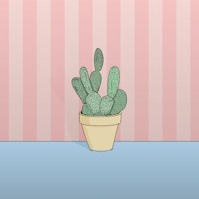 Con la falda remangada: Flor de cactus.