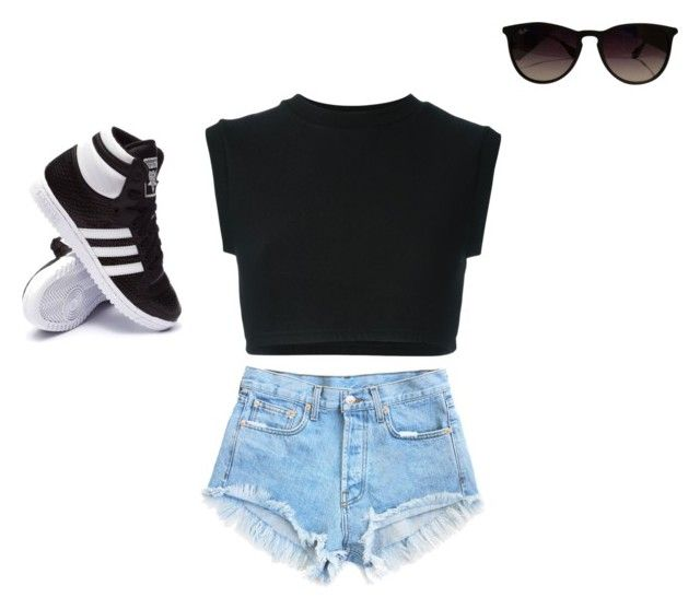 """""""Swagger"""" by imperfectjustsoyouno ❤ liked on Polyvore featuring adidas Originals, adidas and Ray-Ban"""