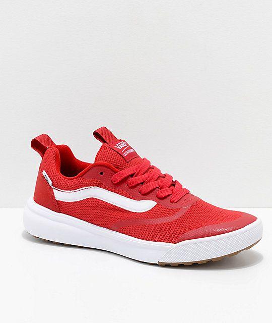 2073c337969 Vans UltraRange Rapidweld Chili Pepper Red   White Shoes em 2019 ...