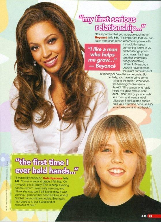 COLE SPROUSE - THE SUITE LIFE ON DECK - BEYONCE KNOWLES - PINUP - CLIPPING  2007  | eBay