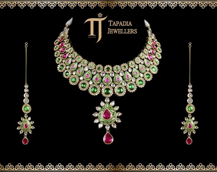 Add the finest touch to personality with the best embellishments  Luxury by appointment only.  #TapadiaJewellers #Pune #Jadau #Jewellery