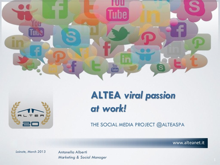 "#Innovate #communication to #innovate #strategy. The communication revolution brought by the #SocialMedia today also interested organizations and business. @ALTEASpA is a ""Social Company"". In this presentation, our journey in the past, present and future by @AntonellaAlberti @aalbertiALTEA"