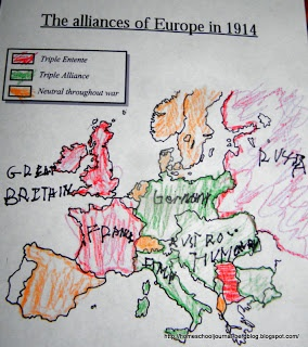 How World War 1 started, some great maps and notebooking pages spotlighted here