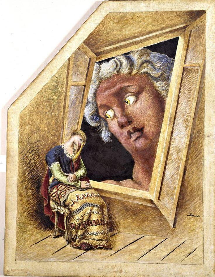 Alberto Savinio(1891ー1952)「L'Annunciazione」(1932)