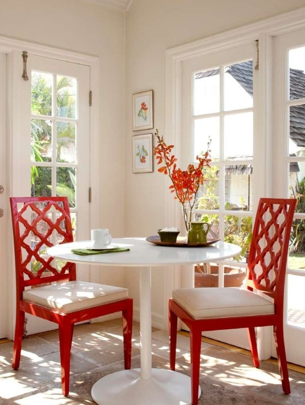 Yes please to the red chairs...Dining Nook | Nina Petronzio Interior Design
