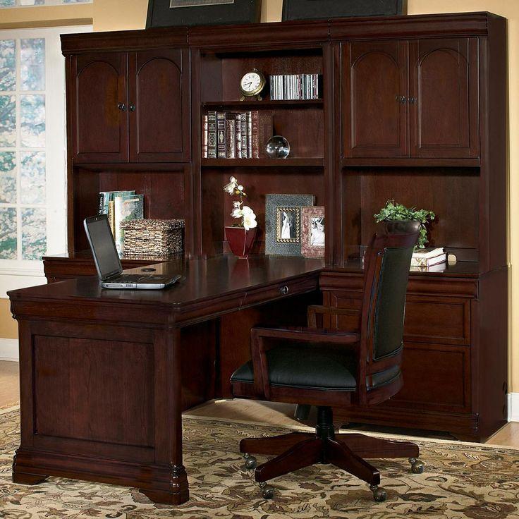 rue de lyon peninsula desk wall unitwynwood   study/den/office