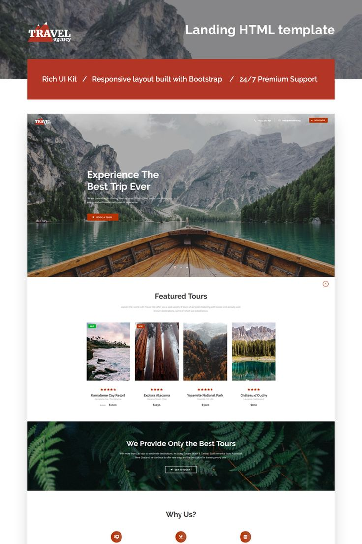 Travel Agency Landing HTML template