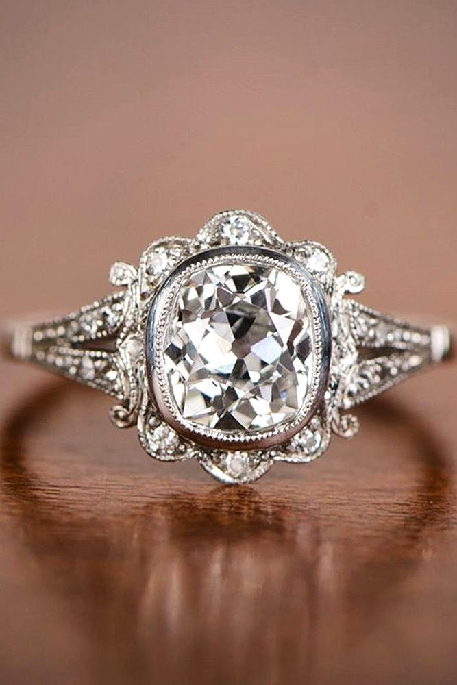 24 vintage engagement rings with stunning details - Vintage Inspired Wedding Rings