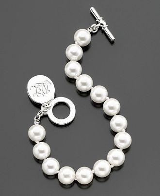 Bracelet, Glass Pearl Toggle (10 mm) from Lauren by Ralph Lauren