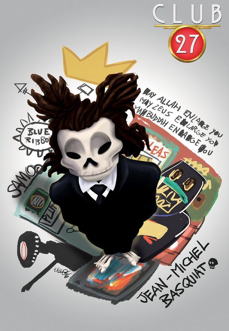 Club 27 Jean-Michel Basquiat, digital paint