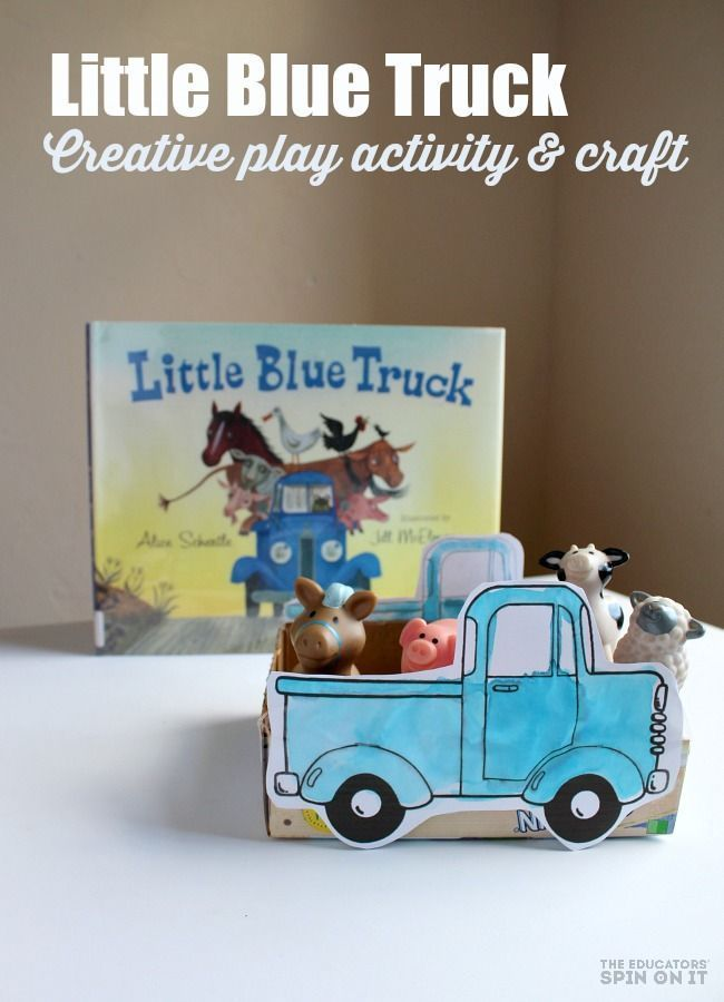 Little Blue Truck Craft for Creative Play Idea.