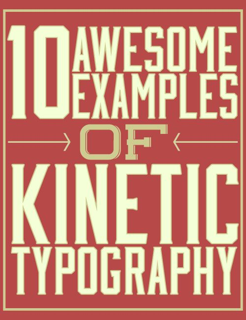 I love Kinetic Typography! Check out this list of great and inspiring kinetic typography videos to get a head start on your next project!