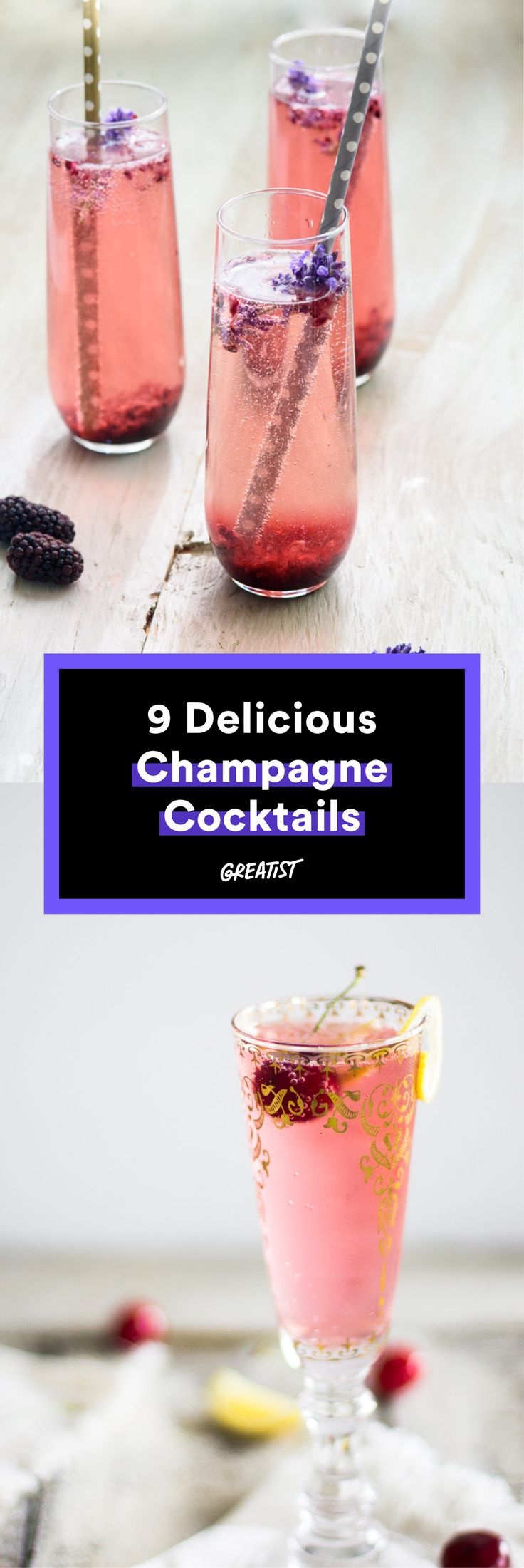 Life's too short to only drink champagne on New Year's. Get popping. #Greatist http://greatist.com/eat/festive-champagne-cocktail-recipes