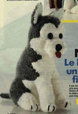 Avec de la laine: tuto husky tricot
