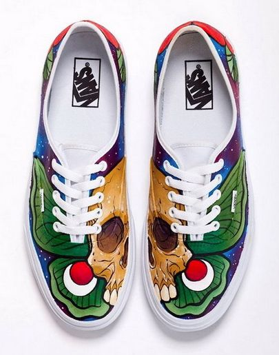 Custom Vans designed by a group of artists for the Sneak It