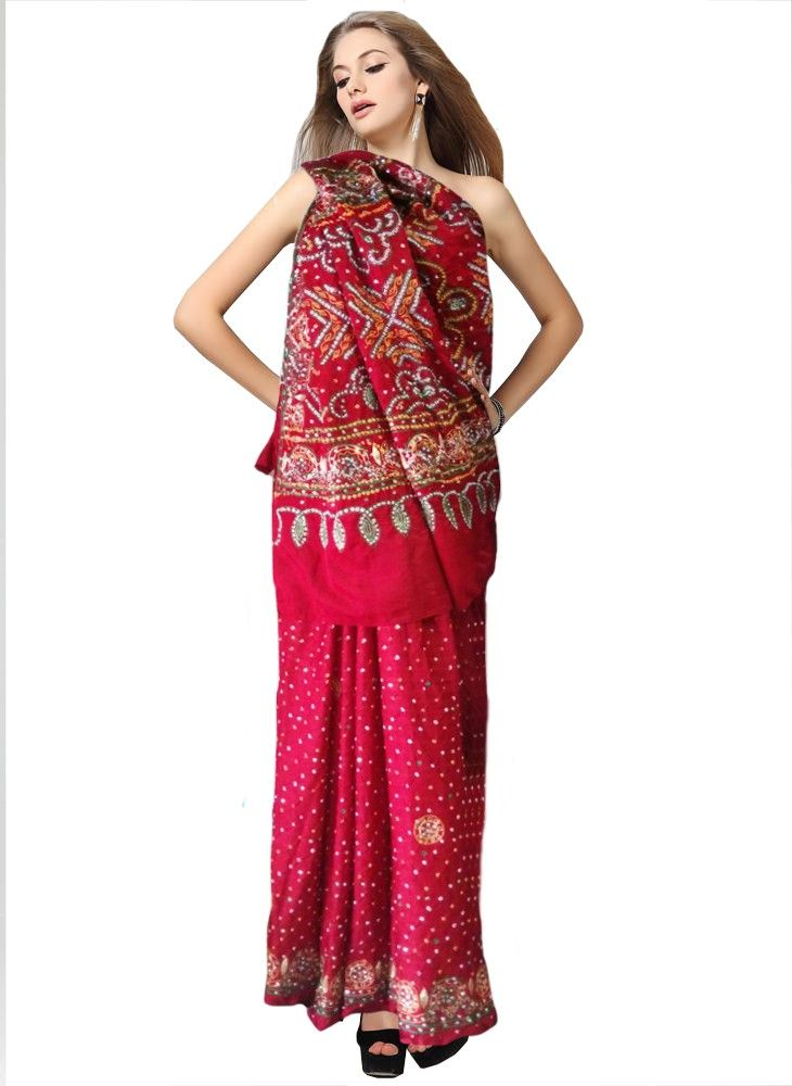 Red Color Gharchola Saree