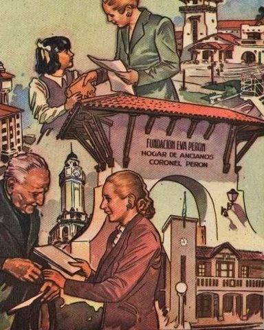 "Afiche ""Fundacion Eva Peron""."