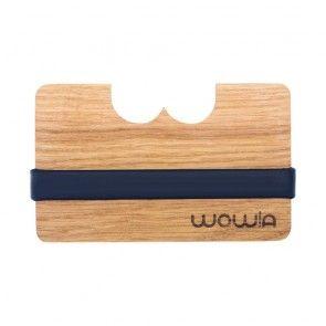 Wowa tölgy fa pénztárca kártyatartó