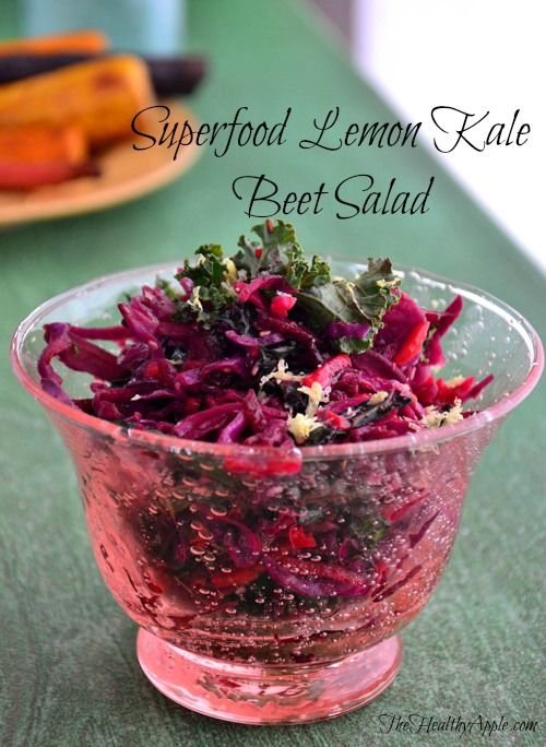 Turning Your Life Around with Autoimmune Disease and Superfood Lemon Kale Beet Salad via @thehealthyapple