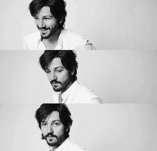 Diego Luna, the last picture is such a Luke Skywalker-esque pose