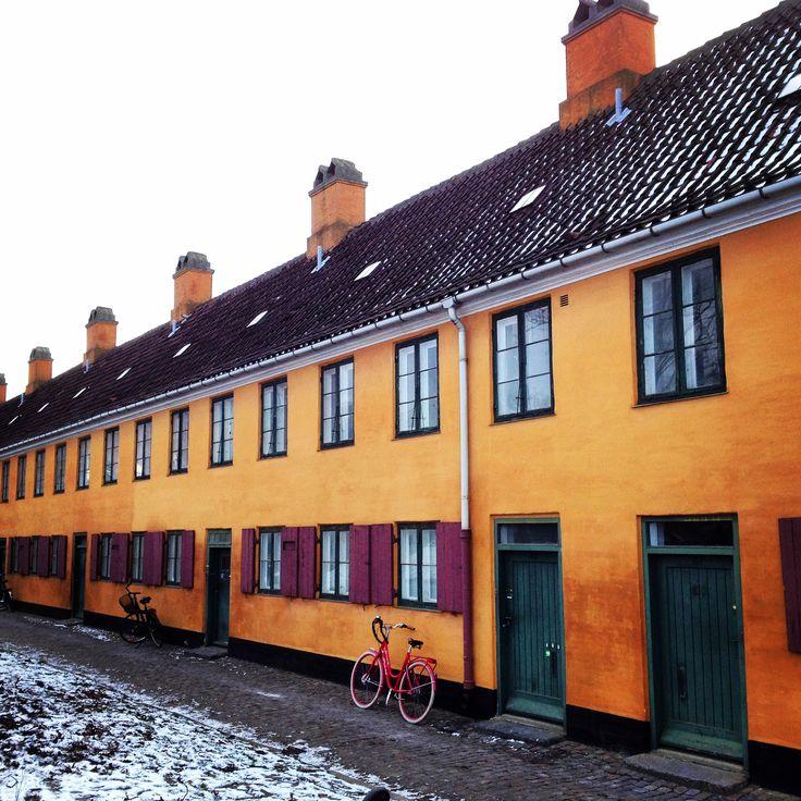 Yellow houses at Nyboder - #Copenhagen