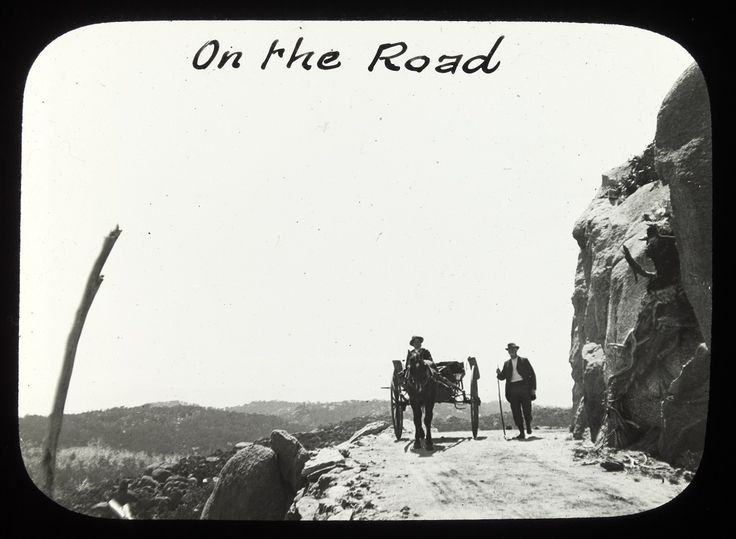 The Horn Road, Mt Buffalo. Guide Alice photo 1890's-1910. SLV collection.
