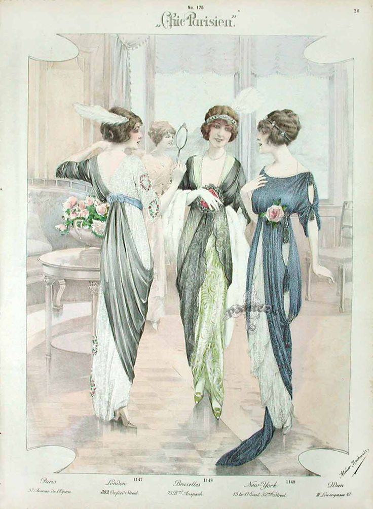 Chic Parisien Fashion Prints 1913