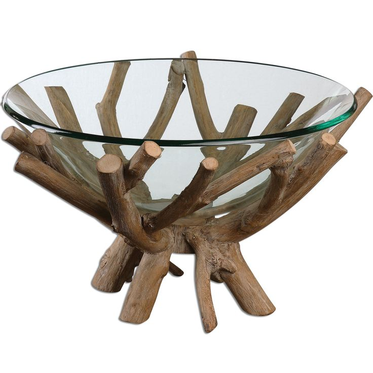 Fill this bowl with colorful fruit for an eye-catching display. Thoro Decorative Glass Bowl with Rustic Wood Twig Base #decorativebowl #homedecoridea #innovationsdesignerhomedecor #uniquehomedecor #homedecorate #interiordecoration #interiordesigninspiration #homedecorshopping #homeaccents #homedecorating  $217.80  ➤ http://bit.ly/2Cb5uiV