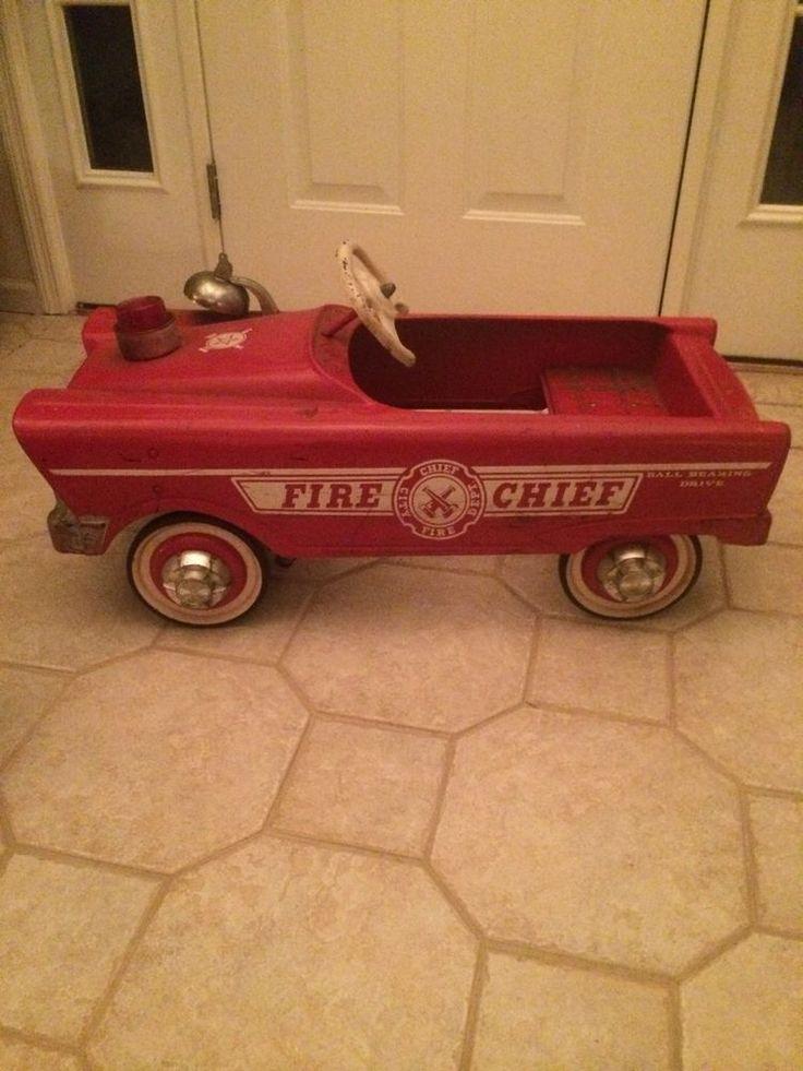 B B Ab Ed Ce A Ea D Cc Hub Caps Fire Trucks on Vintage Murray Pedal Car Parts