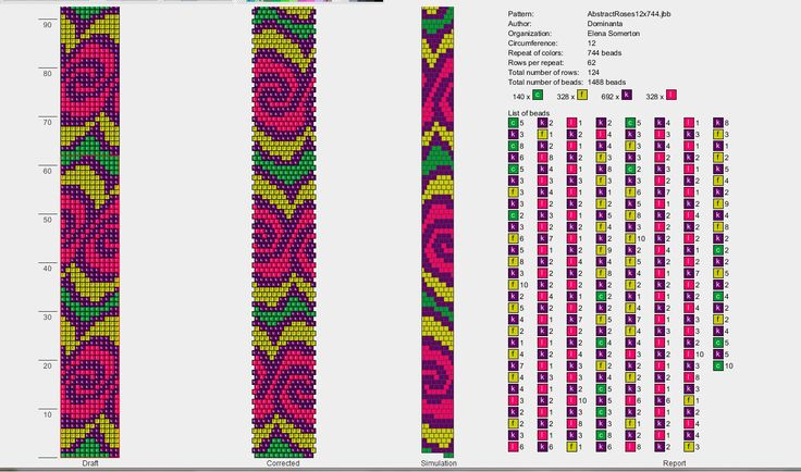 bead crochet rope pattern