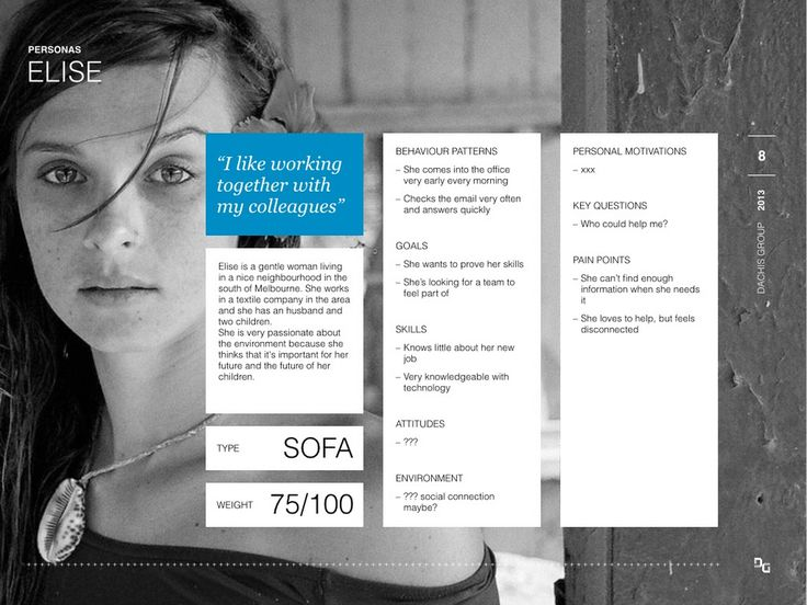 Persona by Dachis Group, 2013 http://www.slideshare.net/folletto/design-with-personas-a-lean-approach
