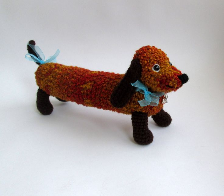 Dachshund crochet, Soft Dog Toy, Dog Doll, Dog Kids, Boy Toy, Plush Toy, Crochet Animal, Croched Toy, Kids Toy by LuckyToysCrocheted on Etsy