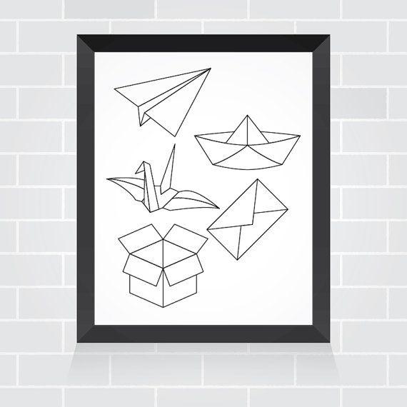 Ligne de papier. Décor imprimable pour bureau accueil par AyiStudio