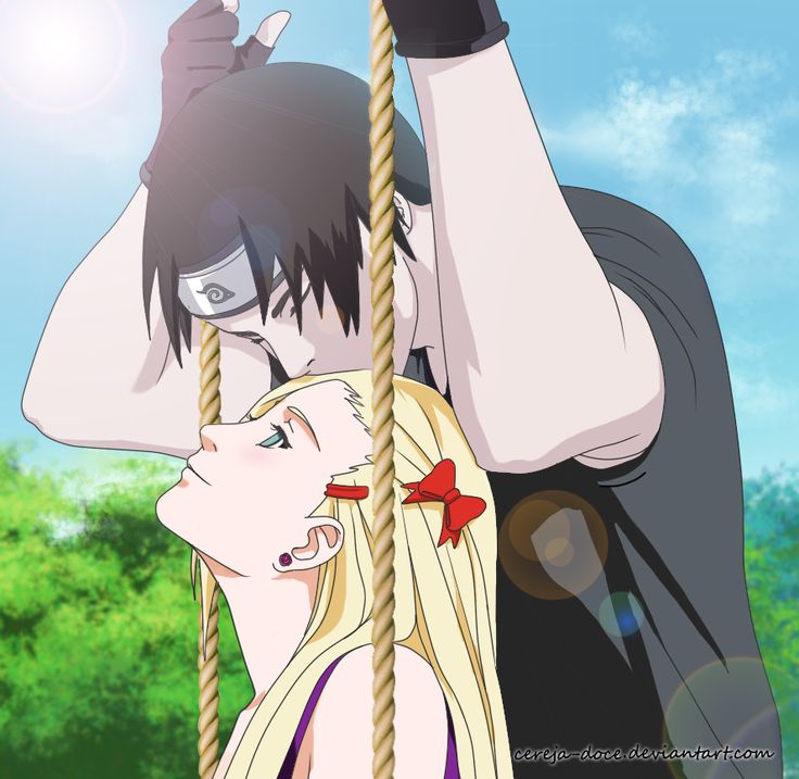 Sai x Ino . i dont ship them at all but this is still cute