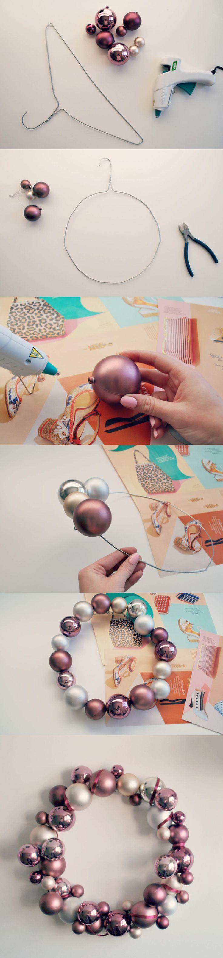 corona navidad DIY muy ingenioso 2