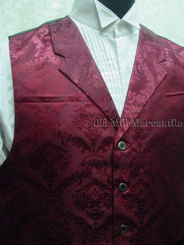 Frontier Classics Richland Old West sass mens western vest sizes S-xXXL #FrontierClassics #Vest