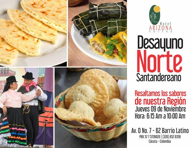 Te esperamos mañana #Jueves para que disfrutes de un delicioso #Desayuno #Buffet #NorteSantandereano la mejor gastronomía de nuestra región. #Cucuta #Colombia