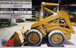 BIDDING NOW! Tuesday 4/26 at 7:00pm 28 LOT(S) in NY  1982 Skid Steer, Assorted Trucks & Cars, Flatbed Trailer, Tractors, Rotary 30,000lb Above Ground Lift, Midland Road Widener, Root Snow Blower, Plows Service Parts & More      1982 New Holland L-325 Skid -Steer Wheel Loader     1990 International Navistar 4700 (4 x 2) Tilting Flatbed     2005 Ford Focus ZX4 Four Door Sedan     2003 Ford F350 XL Super Duty Utility Body     1972 Ford Model 3000 Tr