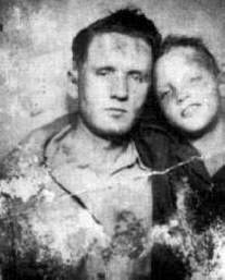 rare photo of Elvis and his father, both so young... <3