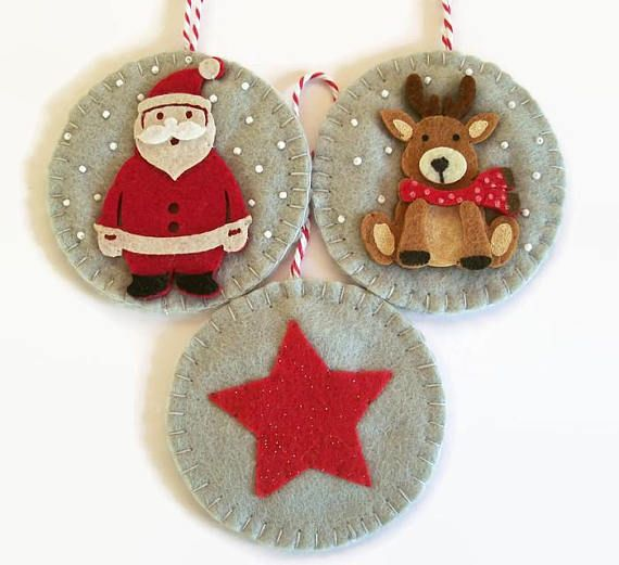 Set of Christmas Ornaments Festive Decor Christmas Star