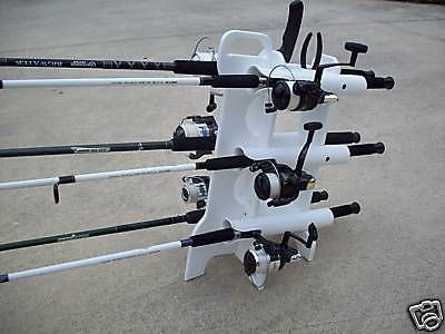 Rod reel holder carrier pole holder white starboard for Fishing rod tote