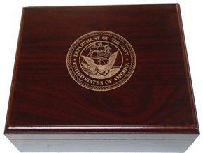 US Navy 25-50 Cigar Military Humidor by Cheap Humidors. $53.00. 1 Spanish Cedar Divider. 1 Round Humidifier. Lined with Premium Kiln Dried Spanish Cedar. Holds up to 50 Cigars. SureSeal® Technology Insures Proper Lid Seal on Closure. This gorgeous humidor is the perfect size to store up to 50 of your favorite cigars. The US NAVY logo is professionally engraved into the texture of this wood box. A great addition to your office, den, or to share your smokes with the guys a...
