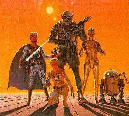 Ralph McQuarrie's original Star Wars concept art