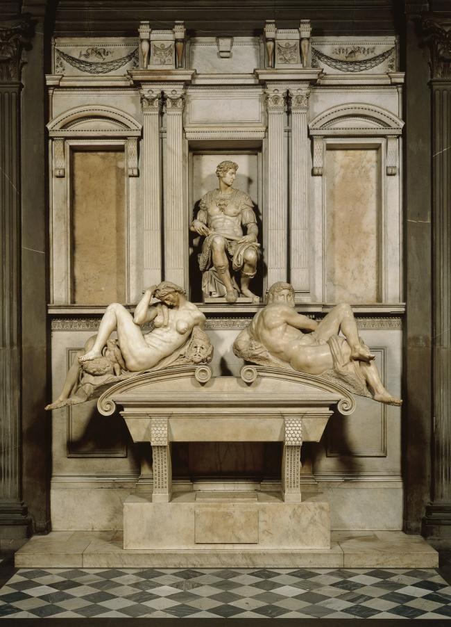 MichałAnioł - Nagrobek Giuliana Medici (vita activa) w Kaplicy Medyceuszy w kościele San Lorenzo we Florencji 1520-34