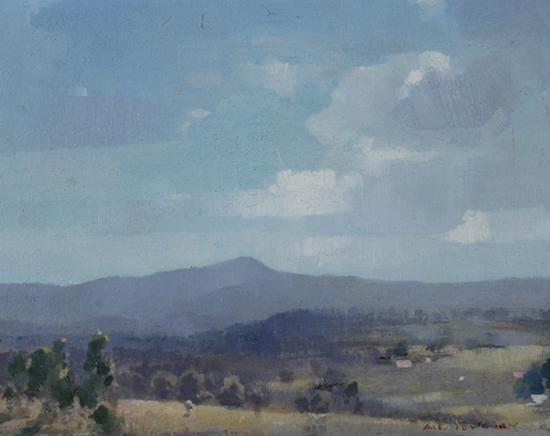 Evening at Cowes - Albert Ernest Newbury (1891-1941) Australia