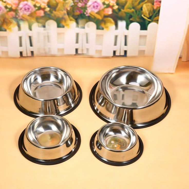 New Arrival Stainless Steel Standard Pet Dog Puppy Cat Food or Drink Water Bowl Dish 4 Size