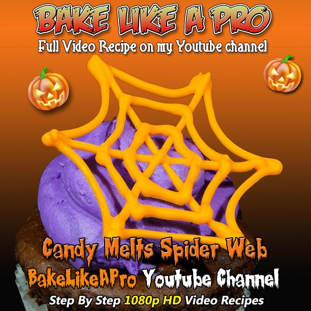 Halloween Candy Melts Spider Web Tutorial I'll use Wilton candy melts to make a Halloween spider web for cupcakes. The chocolate cupcake is dairy-free, the icing is not. Full step-by-step recipe on my Youtube channel BakeLikeAPro - Youtube channel   Please Subscribe ► http://bit.ly/1ucapVH  ►My Facebook Page: http://www.facebook.com/BakeLikeAPro  Please subscribe, like and share if you can, I do appreciate it. http://bit.ly/1ucapVH#recipe